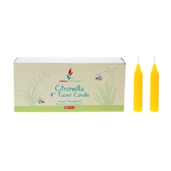 "Mega Candles - 48 pcs 4"" Citronella Straight Taper Candle in Designer Box - Yellow"