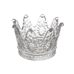 "Mega Crafts - 6"" Crown Glassware - Clear"