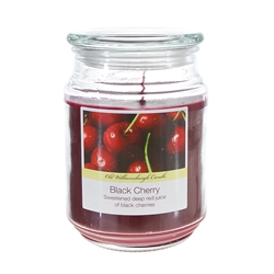 Mega Candles - 18 oz. Country Dreams Scented Jar Candle - Black Cherry