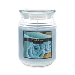 Mega Candles - 18 oz. Country Dreams Scented Jar Candle - Fresh Linen