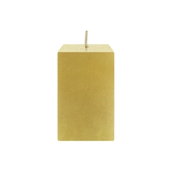 "Mega Candles - 2"" x 3"" Unscented Square Pillar Candle - Gold"