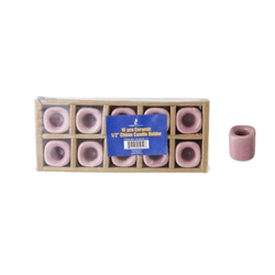 "Mega Candles - 10 pcs Ceramic 1/2"" Chime / Spell Candle Holder - Lavender"