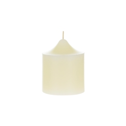 "Mega Candles - 3"" x 3"" Unscented Round Dome Top Pillar Candle - Ivory"