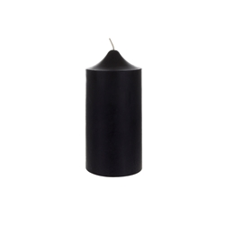 "Mega Candles - 3"" x 6"" Unscented Round Dome Top Pillar Candle - Black"