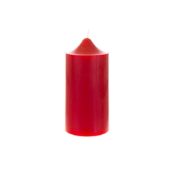 "Mega Candles - 3"" x 6"" Unscented Round Dome Top Pillar Candle - Red"
