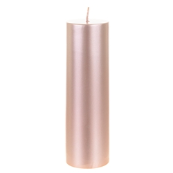 "Mega Candles - 2"" x 6"" Unscented Round Pillar Candle - Rose Gold"