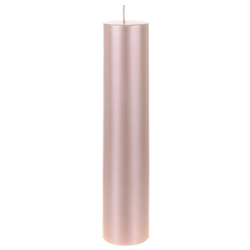 "Mega Candles - 2"" x 9"" Unscented Round Pillar Candle - Rose Gold"