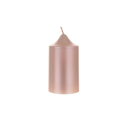"Mega Candles - 2"" x 3"" Unscented Round Dome Top Pillar Candle - Rose Gold"