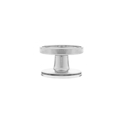 "Mega Candles - 2.5"" Pillar Glass Candle Holder - Silver"