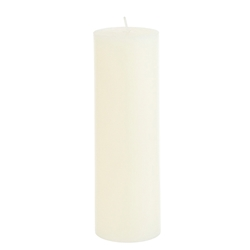 "Mega Candles - 2"" x 3"" Unscented Round Pillar Candle - Ivory"