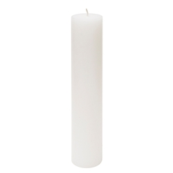 "Mega Candles - 2"" x 9"" Unscented Round Pillar Candle - White"