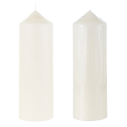 "Mega Candles - 3"" x 9"" Unscented Dome Top Event Pillar Candle - Ivory"