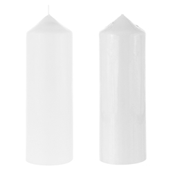 "Mega Candles - 3"" x 9"" Unscented Dome Top Event Pillar Candle - White"