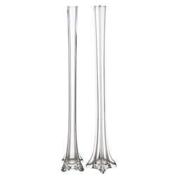 "Mega Vases - 1.5"" x 28"" Eiffel Tower Glass Vase - Clear"
